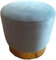 Пуф дизайнерський Голд SDM, м'який, велюр, колір сірий