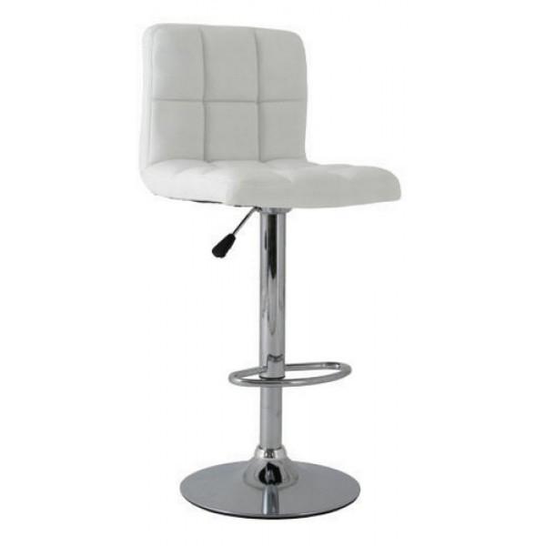 Високий барний стілець Даніель SDM екокожа Білий