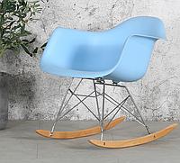 Кресло-качалка Тауэр R SDM, на полозьях, пластик, цвет голубой
