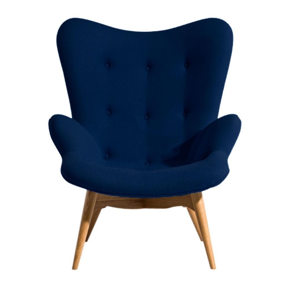 Кресло Флорино SDM, мягкое, дерево бук, цвет синий
