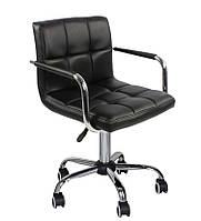 Крісло Артур ДО SDM на колесах, регульоване по висоті, екошкіра, колір чорний