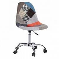 Крісло на колесах Астер SDM, регульоване по висоті, м'яке сидіння, колір печворк