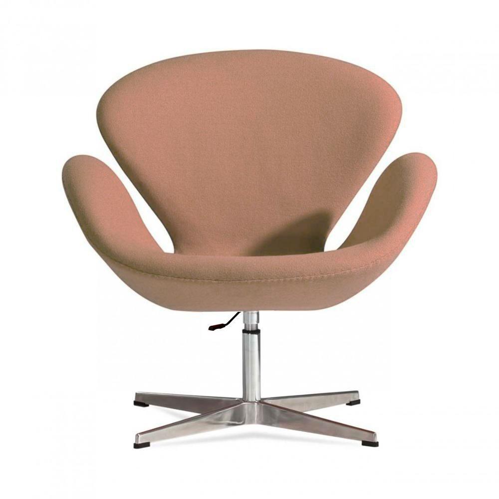 Кресло Сван SDM, мягкое, металл, ткань, цвет коричневый