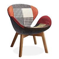 Крісло Сван Вуд Армз SDM, м'яке, ніжки дерево бук, тканина, колір печворк