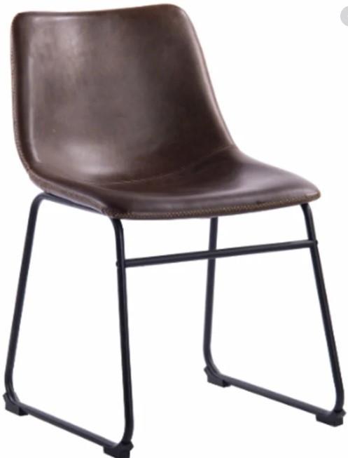 Стілець м'який Техас SDM, колір темно-коричневий
