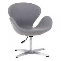 Кресло Сван SDM, мягкое, металл, ткань, цвет серый