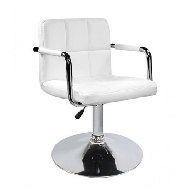 Кресло Артур SDM, регулируемое по высоте, экокожа белого цвета