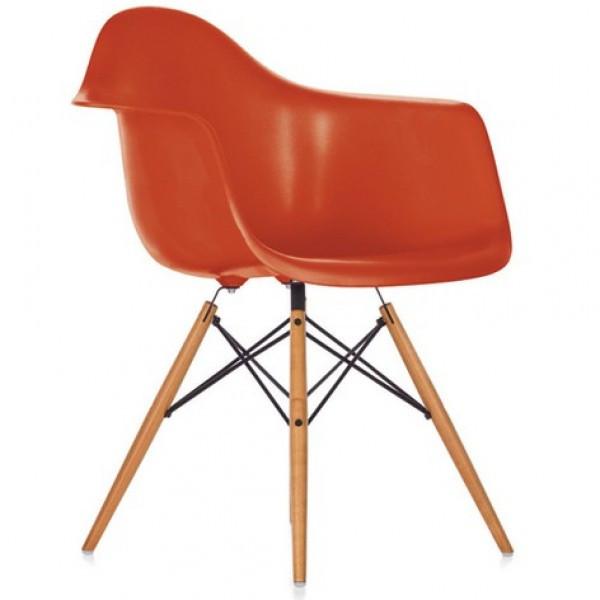 Кресло Тауэр Вуд SDM, ножки дерево бук, пластик, цвет красный