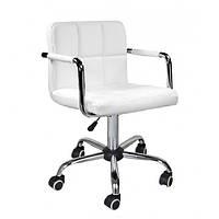 Кресло Артур КО SDM на колесах, регулируемое по высоте,  экокожа, цвет белый, фото 1