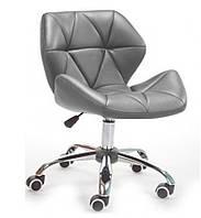 Крісло Стар Нью SDM, м'яке, хром, регулюється по висоті, екошкіра, колір сірий