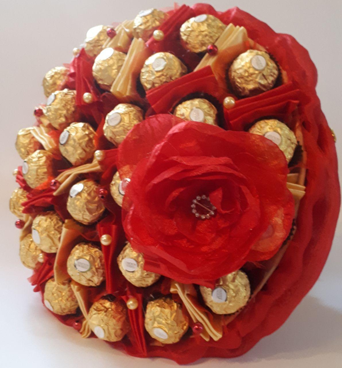 Букет из конфет Okl Красный РР 2021