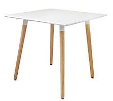 Обеденный стол Нури SDM квадратный 80*80 см Белый