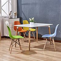 Комплект кухонный: Стол обеденный Нури SDM  квадратный 80х80 см, белый + 4 Разноцветных стула Тауэр Вуд SDM,