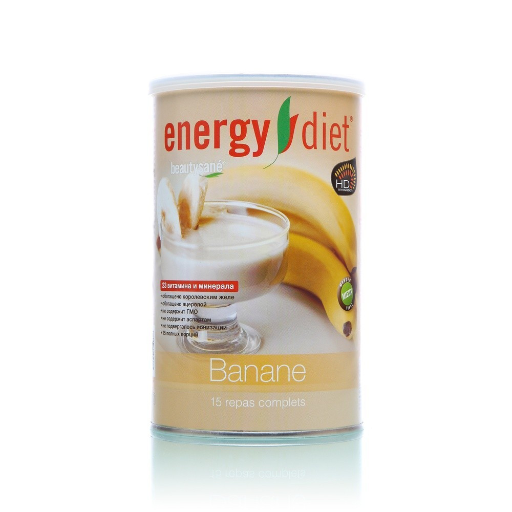 Коктейль Энерджи Диет Energy Diet HD Банан Сбалансированное питание 450 г (b223 )