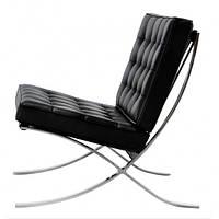 Кресло Барселона SDM, мягкое, нержавеющая сталь, экокожа, цвет черный