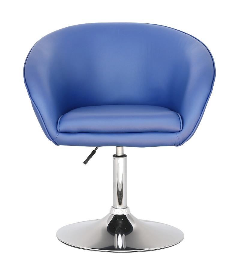 Кресло Мурат SDM мягкое, хромированное, регулируемое по высоте, экокожа, цвет синий