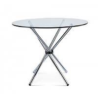 Стол обеденный круглый Тог SDM, стекло толщина 10 мм, обеденный,  ножки хром, диаметр 90 см, фото 1