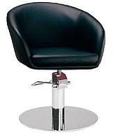 Крісло перукарське Мурат P SDM, гідравлічне регулювання висоти, екошкіра чорна