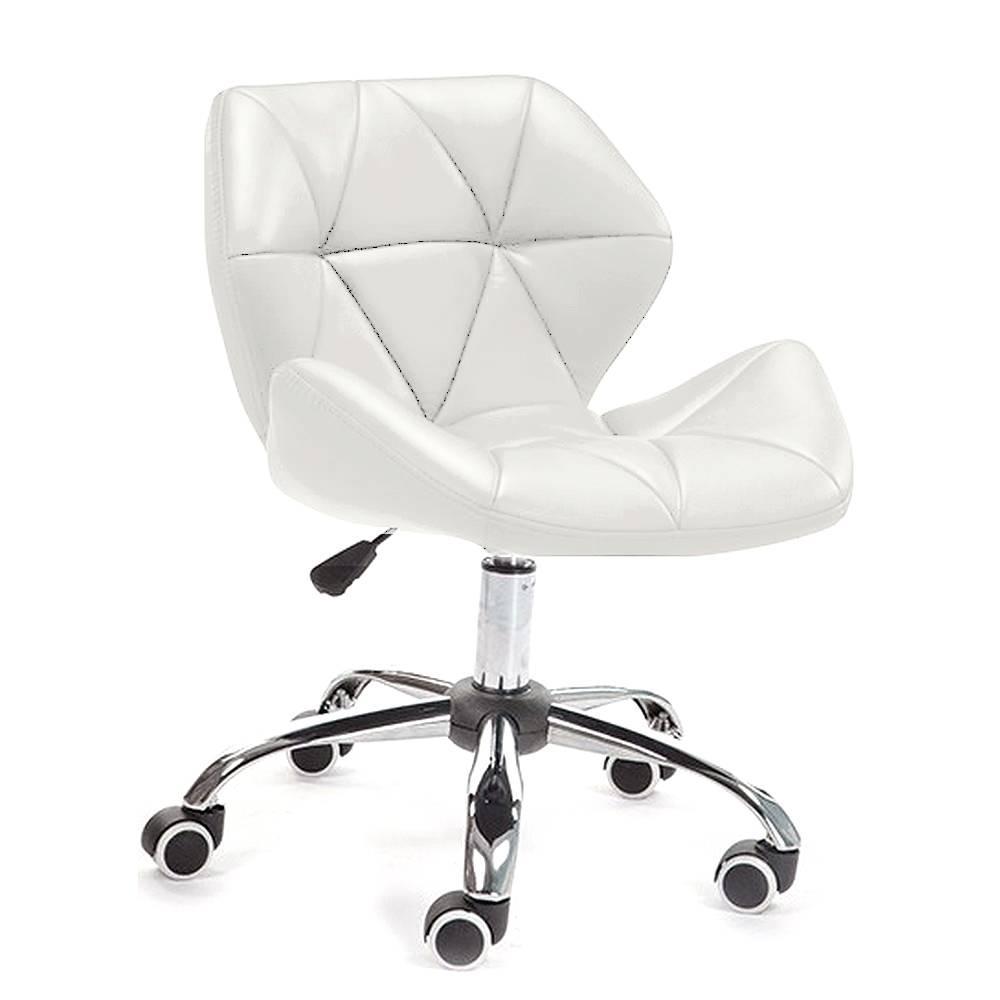 Кресло Стар Нью SDM, мягкое, хром, регулируется по высоте, экокожа, цвет белый