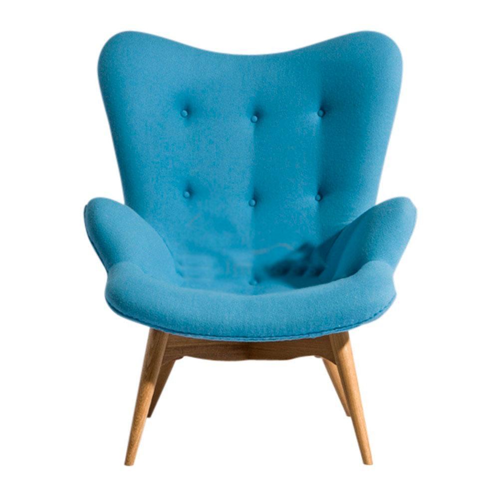 Кресло Флорино SDM, мягкое, дерево бук, цвет голубой