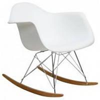 Кресло-качалка Тауэр R SDM, на полозьях, дерево бук, пластик, цвет белый