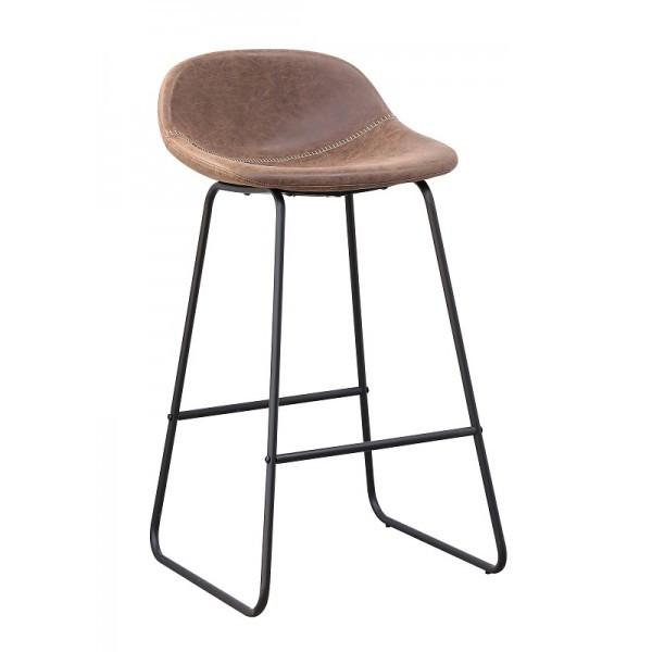 Високий барний стілець Бостон SDM з підніжкою Темно-коричневий