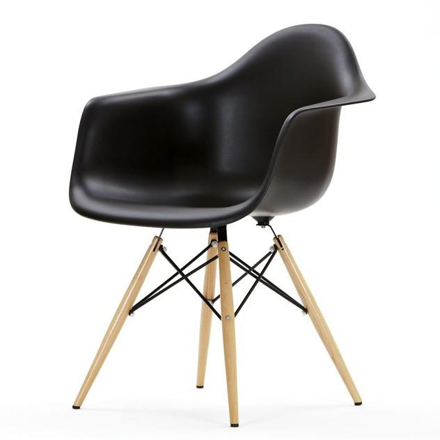 Кресло Тауэр Вуд SDM, дерево бук, пластиковое сидение, цвет черный