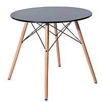 Круглый обеденный стол Тауэр Вуд SDM 80 см Черный