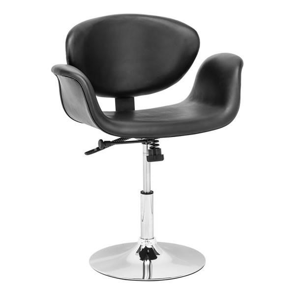 Кресло Студио SDM, кожзам, опора хромированная, регулируемое по высоте, цвет черный