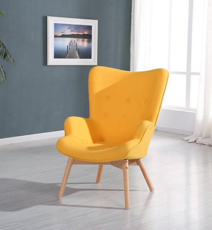 Кресло Флорино SDM, мягкое, дерево бук, цвет желтый
