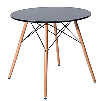 Круглий обідній стіл Тауер Вуд SDM 60 см Чорний, фото 1
