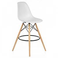 Високий барний стілець Тауер Вуд SDM пластик Білий