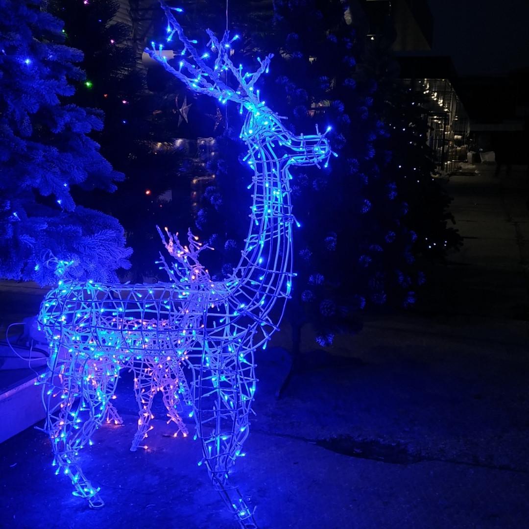 Олень новогодний светящийся светодиодный Led 130см