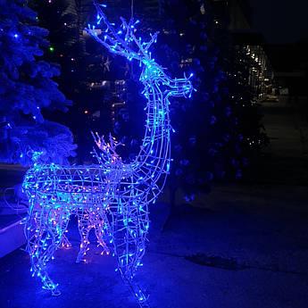 Олень новорічний світиться світлодіодний Led 130см