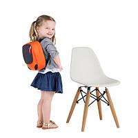 Детский стул Тауэр Вaby SDM, пластиковый, ножки дерево бук, цвет белый