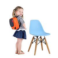 Детский стул Тауэр Вaby SDM, пластиковый, ножки дерево бук, цвет голубой
