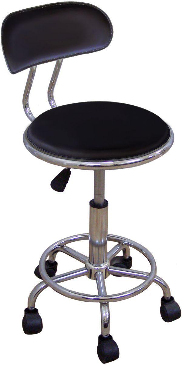 Кресло на роликах Бэйсик SDM, регулируемое по высоте, искусственный кожзам, цвет черный