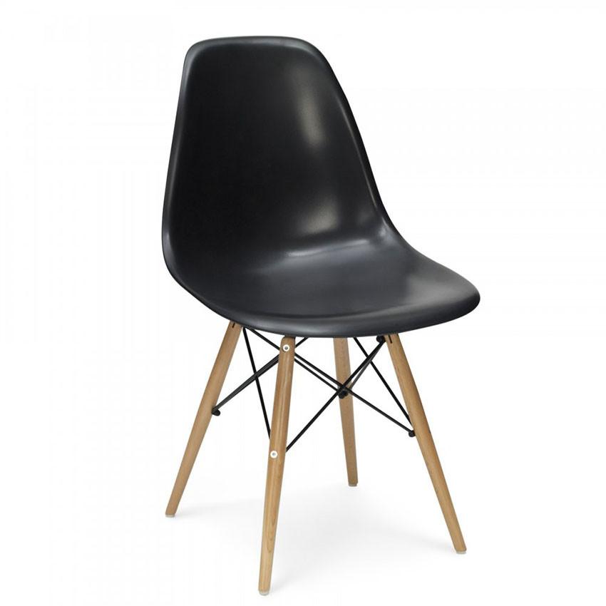Стул Тауэр Вуд SDM, пластиковый, ножки дерево бук, черный