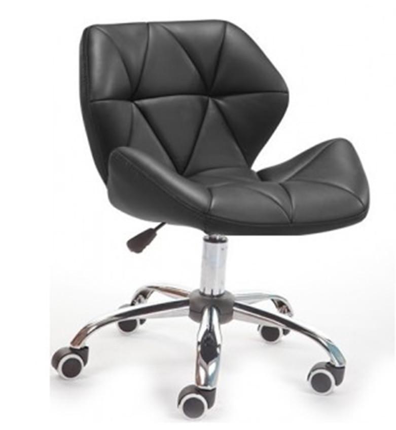 Кресло Стар Нью SDM, мягкое, хром, регулируется по высоте, экокожа, цвет черный