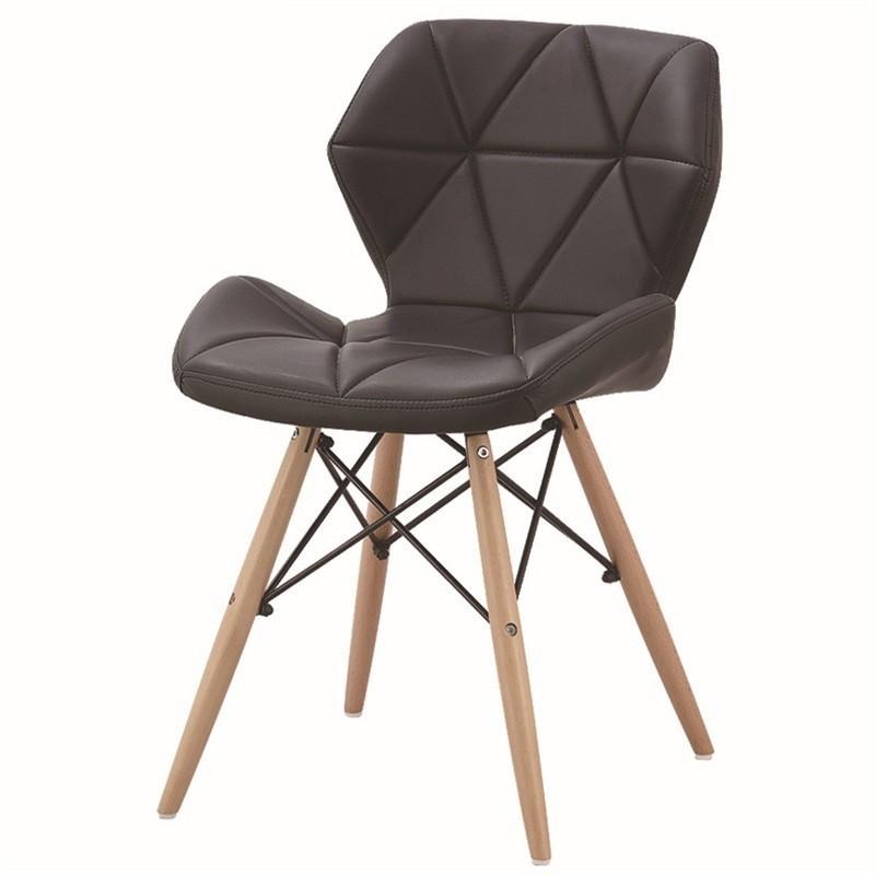 Стул Стар SDM , кожзам, ножки деревянные, экокожа черного цвета