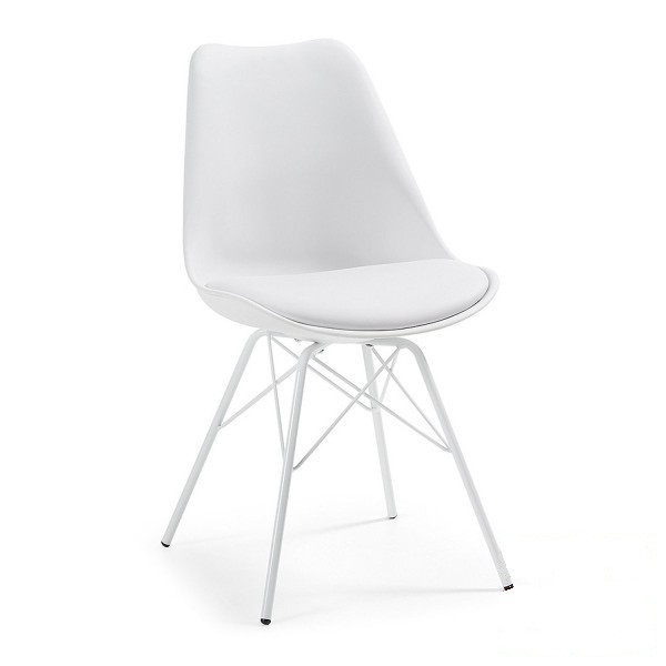 Стул дизайнерский Тау SDM, пластиковый, металлический, подушка, цвет белый