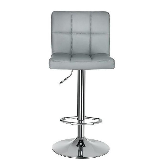 Високий барний стілець Даніель SDM екокожа Сірий