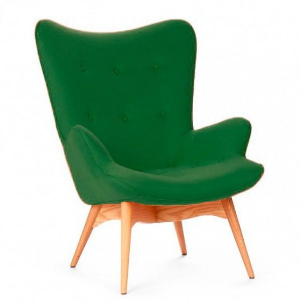 Кресло Флорино SDM, мягкое, дерево бук, цвет зеленый
