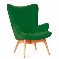 Крісло Флорино SDM, м'яке, дерево бук, колір зелений
