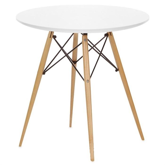 Круглый обеденный стол Тауэр Вуд 60 см Белый
