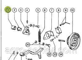 Втулка распорная тефлоновая на прессподборщик Claas Markant, 48,3X5X50,  8082701