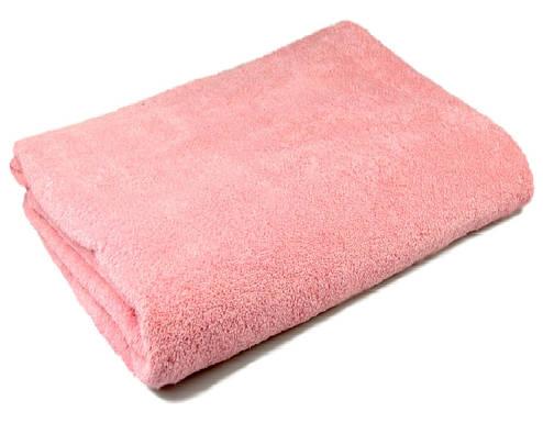 Простынь махровая 150х200 Хлопок 100% Розовая 400 гр/м2, фото 2