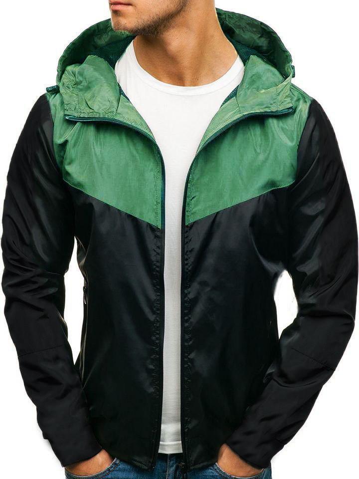 Мужская весенняя черная куртка ветровка