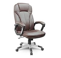 Кожаный стул кресло компьютерное, офисное коричневое Sofotel Eago EG-222
