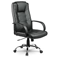 Кожаный стул кресло компьютерное, офисное черное Sofotel Eago EG-221